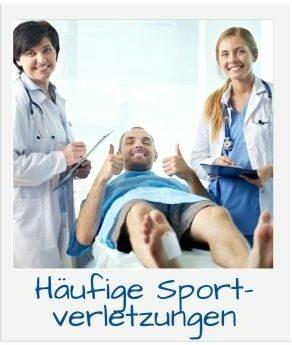 Häufige Sportverletzungen